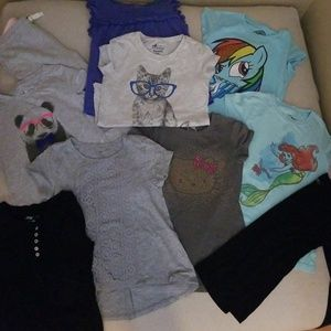 Lot of size 6 to 7 girls tshirts and pants